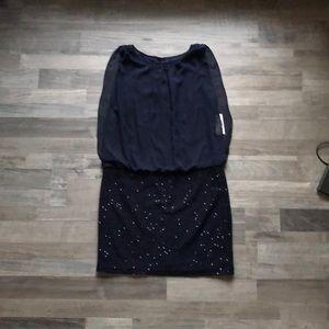 Cocktail Dress - Navy Blue